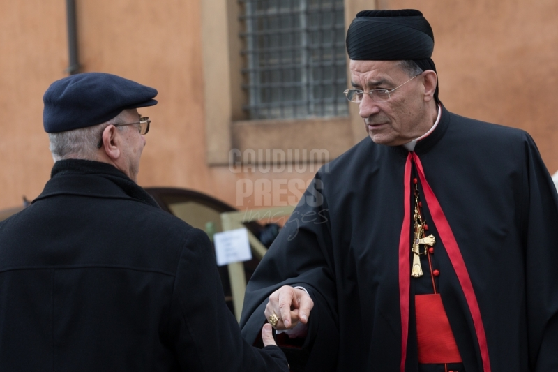 Vatican City : His Beatitude Moran MorBechara Boutros al-RahiCardinalPatriarch of Antioch. VII general congregation of Cardinals before the election of Pope Francis. Photo: Gustavo Kralj/Gaudiumpress