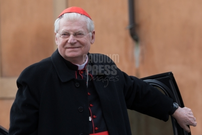 Vatican City : Cardinal Scola - VII general congregation of Cardinals before the election of Pope Francis. Photo: Gustavo Kralj/Gaudiumpress