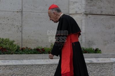 Vatican City : Camillo  cardinal Ruini - .VII general congregation of Cardinals before the election of Pope Francis. Photo: Gustavo Kralj/Gaudiumpress