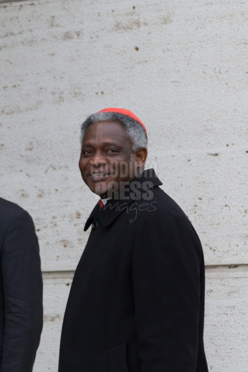 Vatican City : cardinal Peter Kodwo Appiah Turkson - VII general congregation of Cardinals before the election of Pope Francis. Photo: Gustavo Kralj/Gaudiumpress