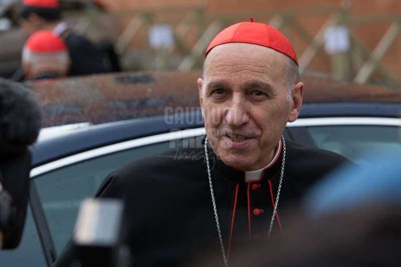 Vatican City: Cardinal Severino Poletto - IX Congregation of Cardinals before the election of Pope Francis. Photo: Gustavo Kralj/GaudiumpressImages