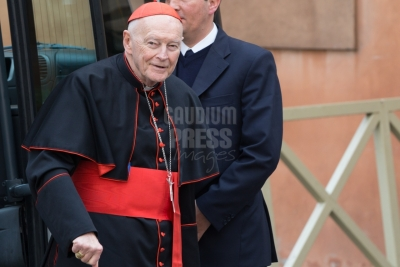 Vatican City: Theodore Edgar McCarrick (born July 7, 1930) is a laicized American former cardinal and bishop of the Catholic Church - IX Congregation of Cardinals before the election of Pope Francis. Photo: Gustavo Kralj/GaudiumpressImages