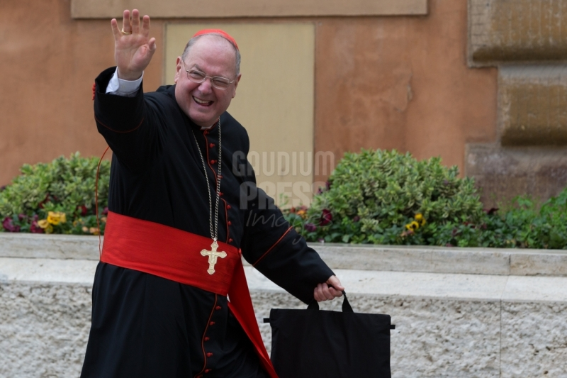 Vatican City: cardinal Dolan -  IX Congregation of Cardinals before the election of Pope Francis. Photo: Gustavo Kralj/GaudiumpressImages