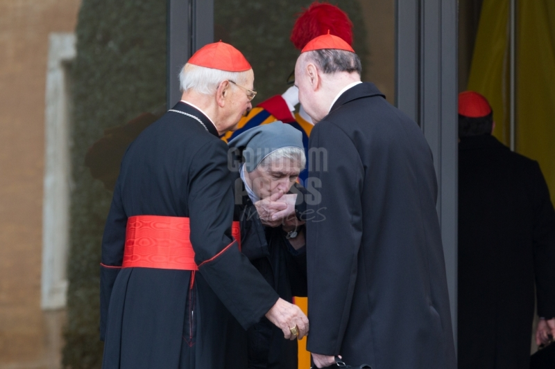 Vatican City: Cardinal Angelo Comastri -cardinal IX Congregation of Cardinals before the election of Pope Francis. Photo: Gustavo Kralj/GaudiumpressImages