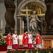 Pope Francis Pentecost Mass at St Peter's Basilica, Vatican.
