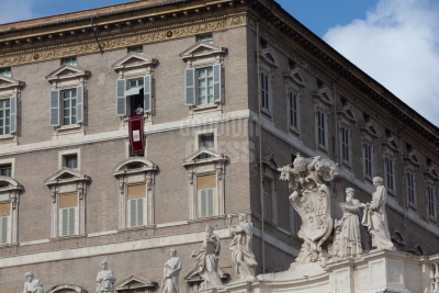 Vatican City: Pope Francis at the balcony on the angelus on 02-10-2019 - ©Gustavo Kralj/GPImages - EDITORIAL USE ONLY