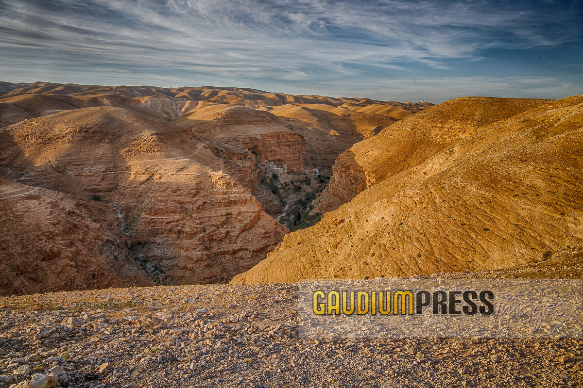 St George monastery in the judaean desert - wadi Qelt- Israel